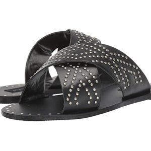 Steven by Steve Madden Silver Studded Sandals 8.5